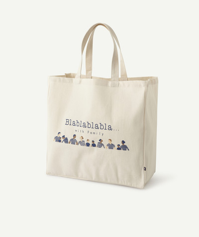 Accessories radius - PRINTED SHOPPING BAG WITH A MESSAGE, MADE IN FRANCE