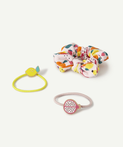 Baby-girl radius - HAIRDRESSING SET WITH ELASTICS AND SCRUNCHIE