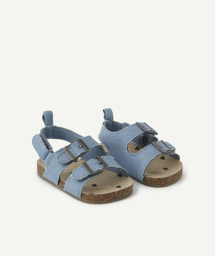 Shoes, booties radius - CHAMBRAY SANDAL-STYLE SLIPPERS