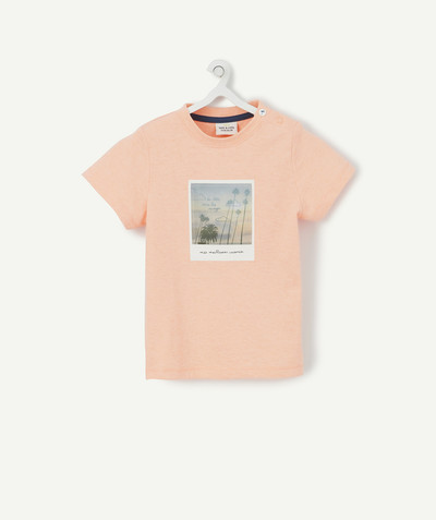 All collection radius - ORANGE MARL T-SHIRT IN ORGANIC COTTON WITH PHOTO