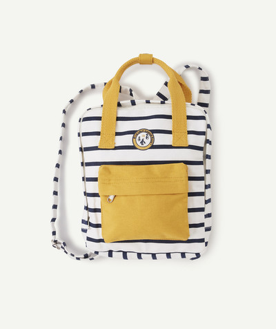 All collection radius - YELLOW, NAVY BLUE AND WHITE BACKPACK