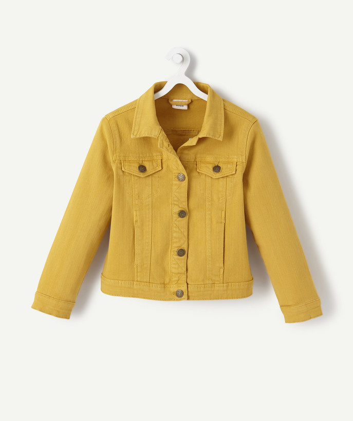 Coat - Padded jacket - Jacket radius - JACKET IN YELLOW DENIM