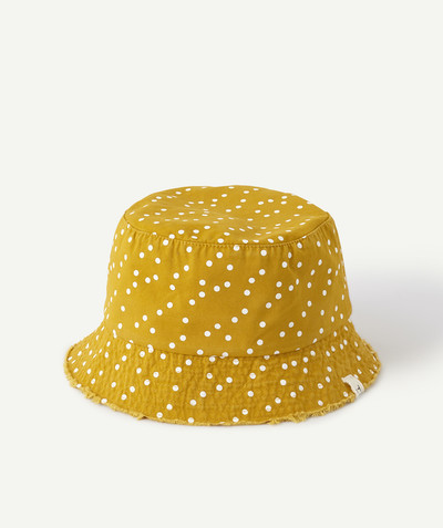 All Collection radius - YELLOW SPOTTED BEANIE HAT IN DENIM CANVAS