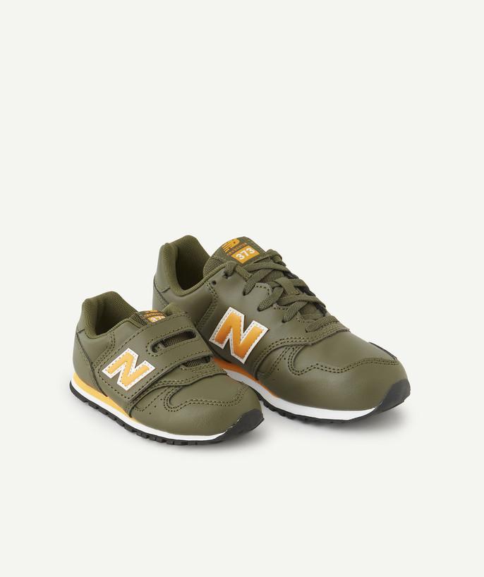 New Balance ® 373 Khaki And Yellow Trainers - Basket Nb G Egy ...